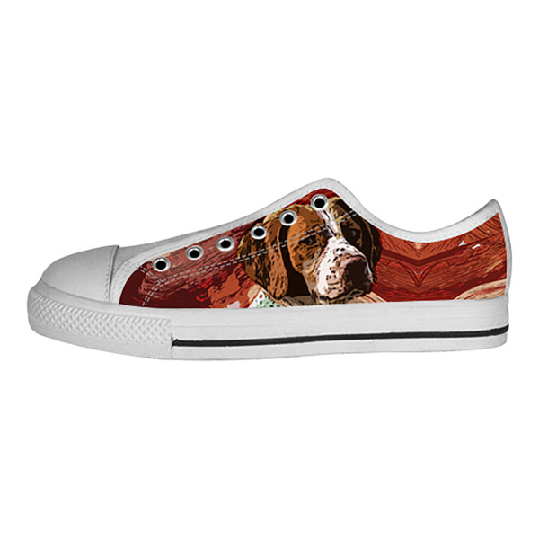 Brittany Spaniel Shoes & Sneakers - Custom Brittany Spaniel Canvas Shoes - TeeAmazing - 4