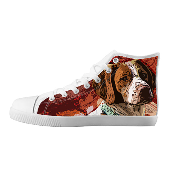 Brittany Spaniel Shoes & Sneakers - Custom Brittany Spaniel Canvas Shoes - TeeAmazing - 5