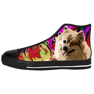 Pomeranian Shoes & Sneakers - Custom Pomeranian Canvas Shoes - TeeAmazing