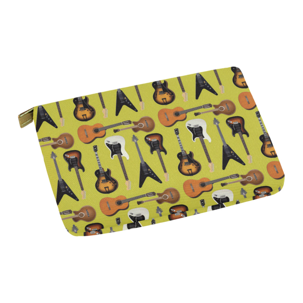 Guitar Pattern Carry-All Pouch 12.5x8.5 - TeeAmazing