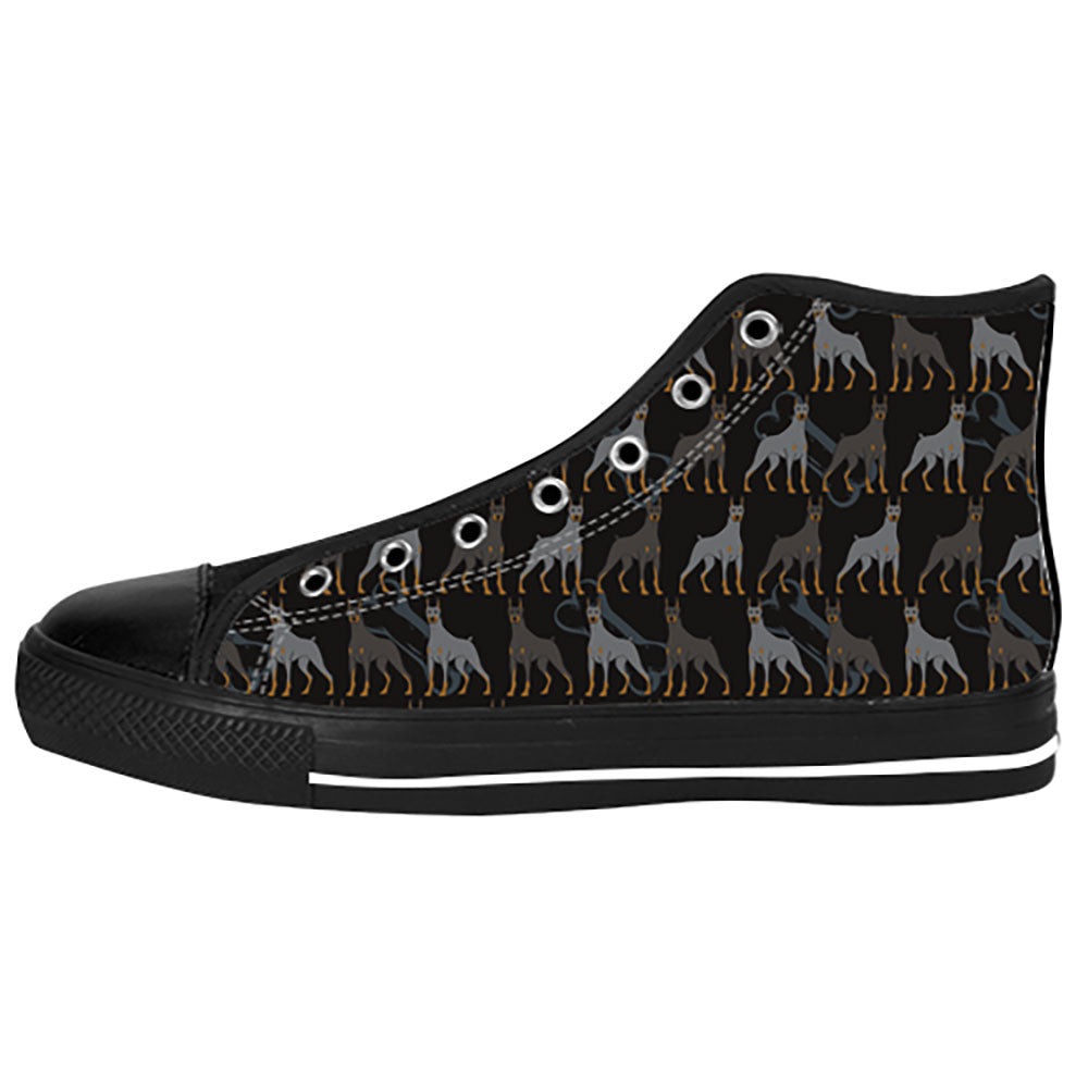 Doberman Pinscher Dogs Shoes & Sneakers - Custom Doberman Pinscher Canvas Shoes - TeeAmazing - 1