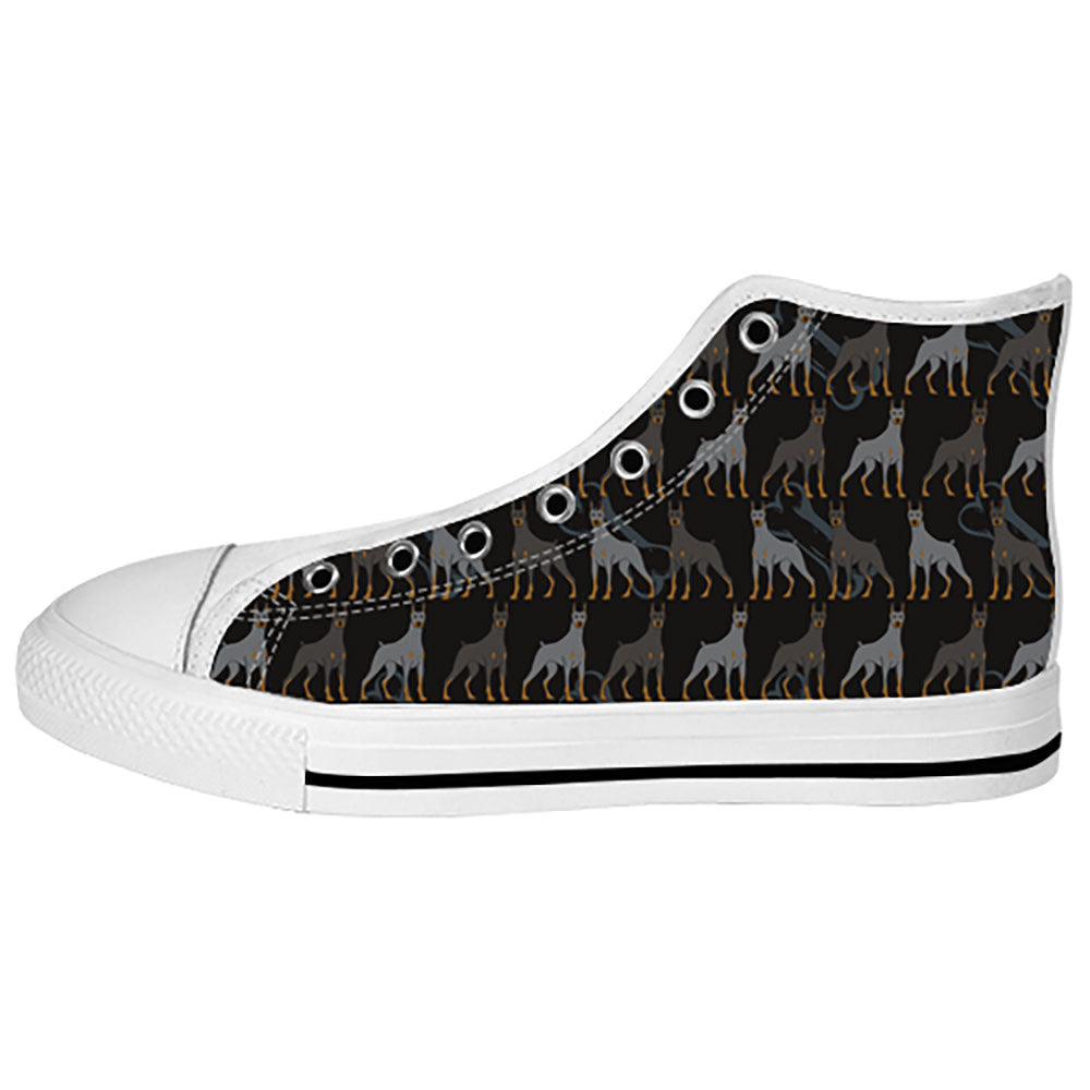 Doberman Pinscher Dogs Shoes & Sneakers - Custom Doberman Pinscher Canvas Shoes - TeeAmazing - 2