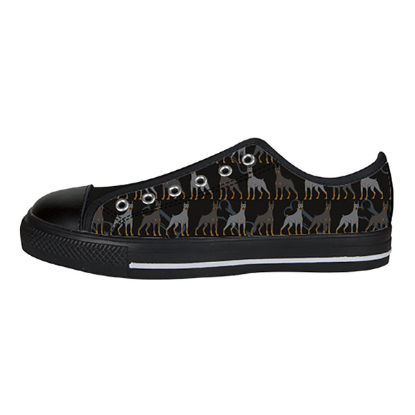Doberman Pinscher Dogs Shoes & Sneakers - Custom Doberman Pinscher Canvas Shoes - TeeAmazing - 3