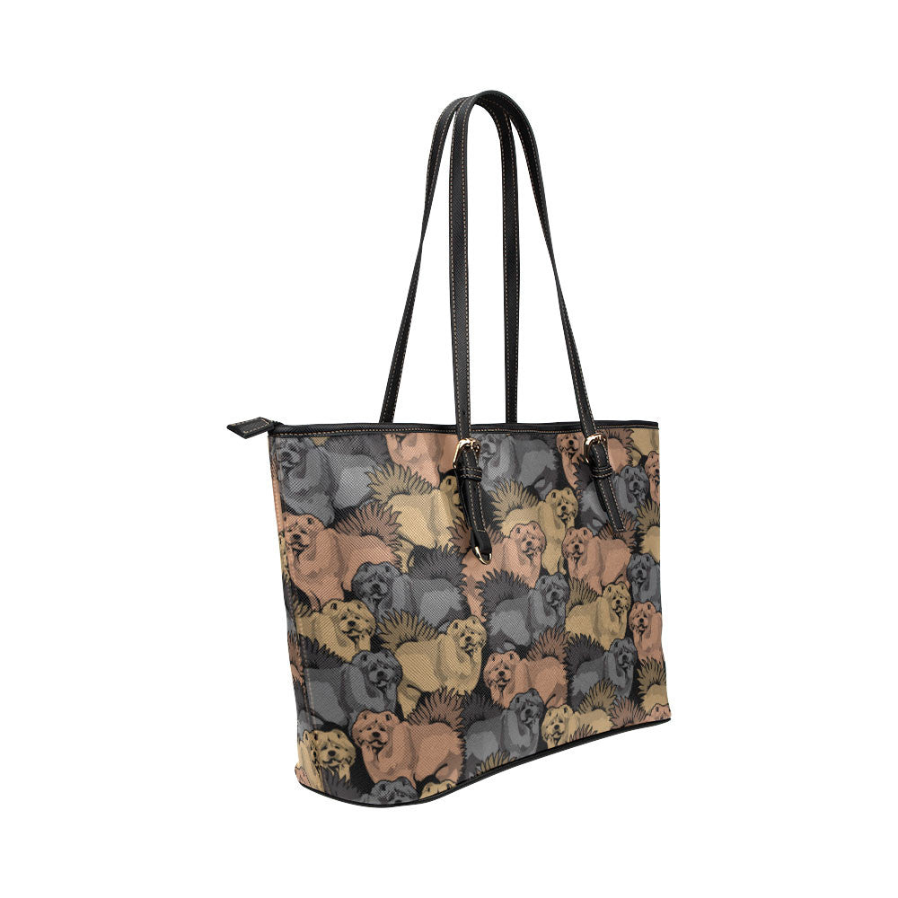 Chow Chow Leather Tote Bags - Chow Chow Bags - TeeAmazing