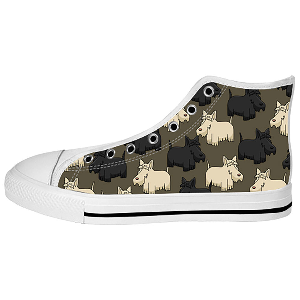 ... Scottish Terrier Shoes & Sneakers - Custom Scottish Terrier Canvas Shoes  - TeeAmazing ...