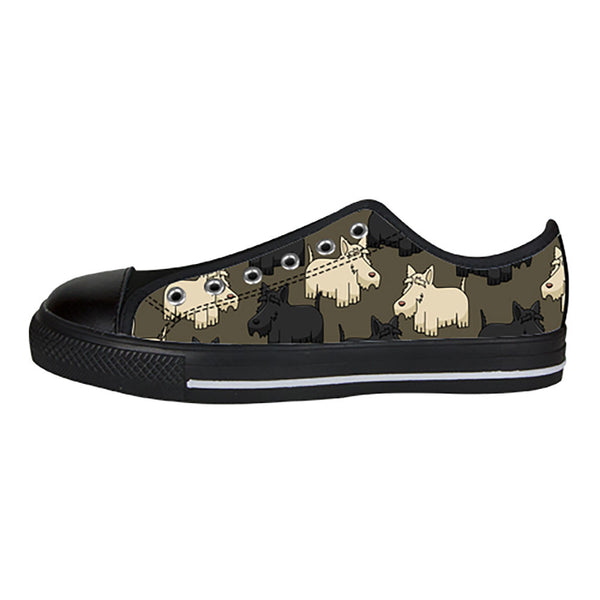Scottish Terrier Shoes & Sneakers - Custom Scottish Terrier Canvas Shoes - TeeAmazing - 3