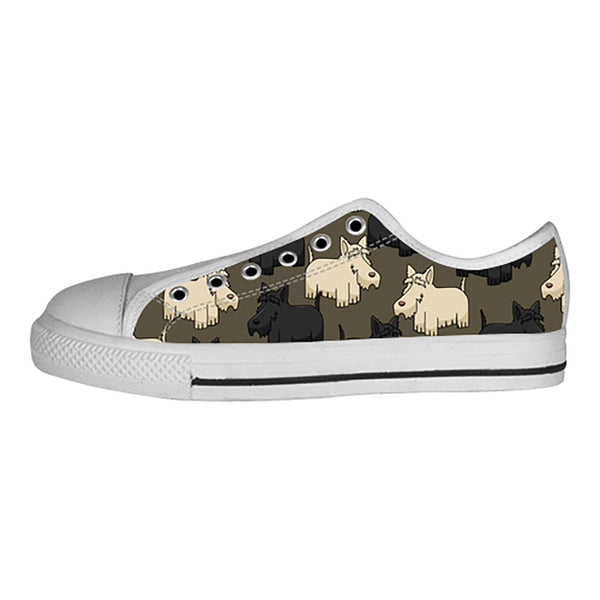 Scottish Terrier Shoes & Sneakers - Custom Scottish Terrier Canvas Shoes - TeeAmazing - 4