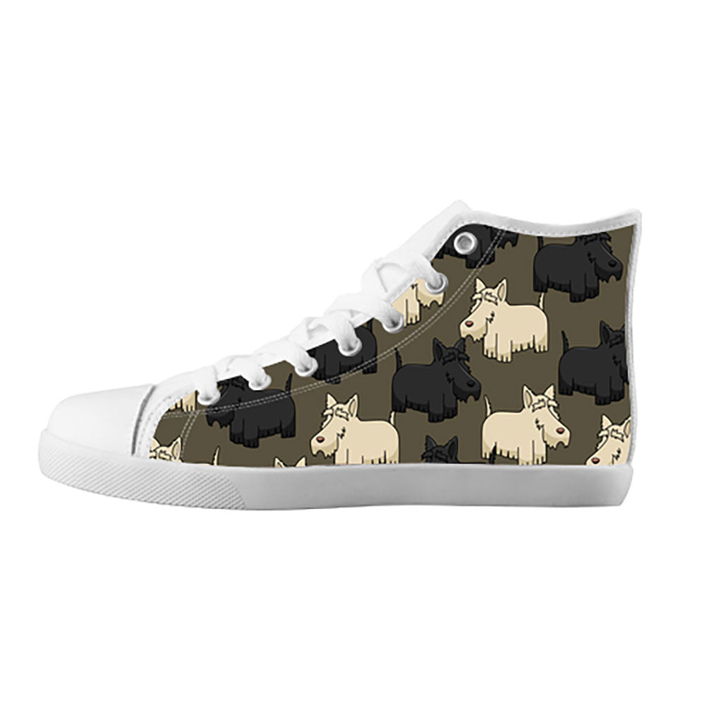 Scottish Terrier Shoes & Sneakers - Custom Scottish Terrier Canvas Shoes - TeeAmazing
