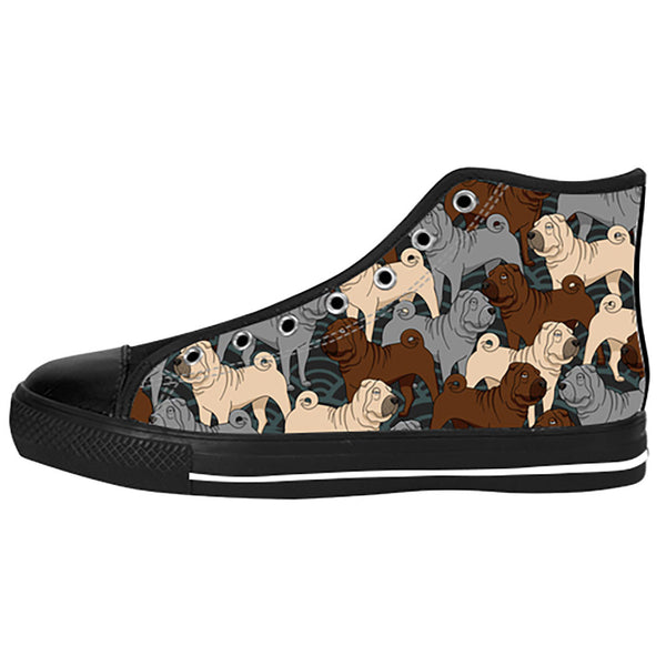 Shar Pei Shoes & Sneakers - Custom Shar Pei Canvas Shoes - TeeAmazing - 1