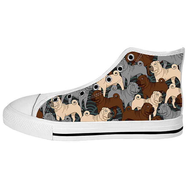Shar Pei Shoes & Sneakers - Custom Shar Pei Canvas Shoes - TeeAmazing - 2