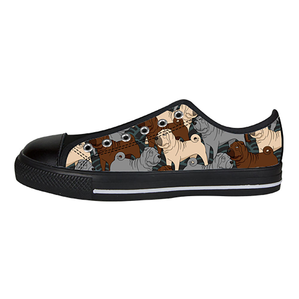 Shar Pei Shoes & Sneakers - Custom Shar Pei Canvas Shoes - TeeAmazing