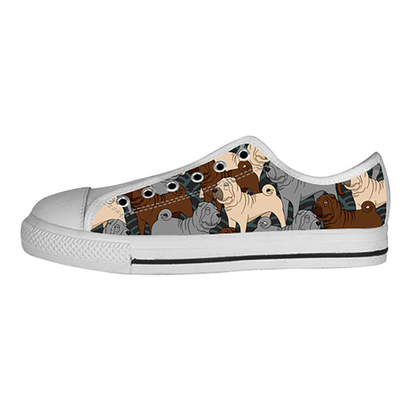 Shar Pei Shoes & Sneakers - Custom Shar Pei Canvas Shoes - TeeAmazing - 4