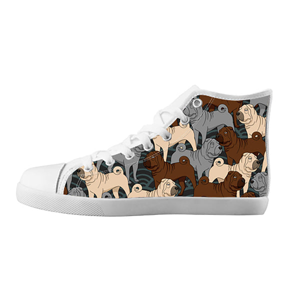 Shar Pei Shoes & Sneakers - Custom Shar Pei Canvas Shoes - TeeAmazing - 5
