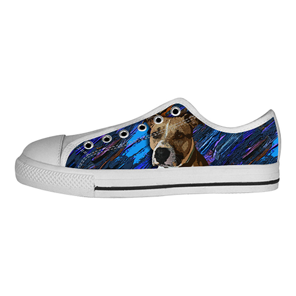 American Staffordshire Terrier Shoes & Sneakers - Custom American Staffordshire Terrier Canvas Shoes - TeeAmazing
