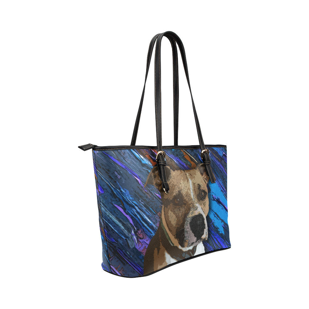 American Staffordshire Terrier Leather Tote Bags - American Staffordshire Terrier Bags - TeeAmazing