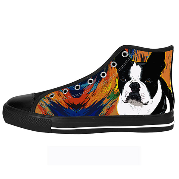 Boston Terrier Shoes & Sneakers - Custom Boston Terrier Canvas Shoes - TeeAmazing - 1