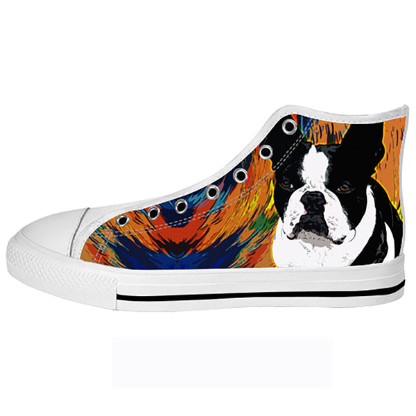 Boston Terrier Shoes & Sneakers - Custom Boston Terrier Canvas Shoes - TeeAmazing - 2