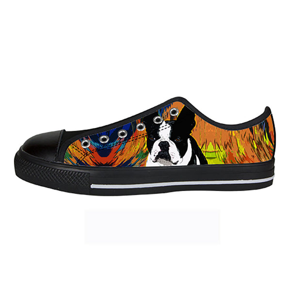 Boston Terrier Shoes & Sneakers - Custom Boston Terrier Canvas Shoes - TeeAmazing - 3