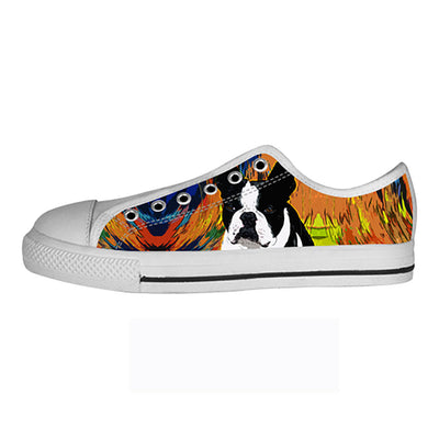 Boston Terrier Shoes & Sneakers - Custom Boston Terrier Canvas Shoes - TeeAmazing