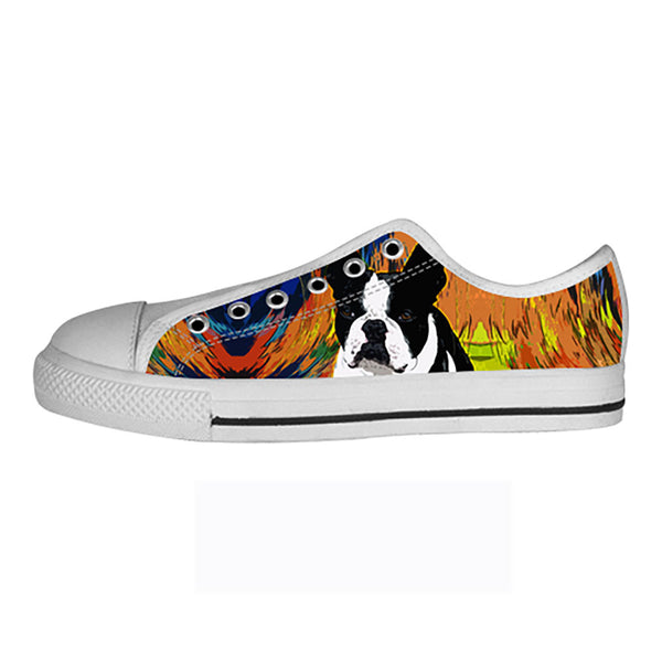 Boston Terrier Shoes & Sneakers - Custom Boston Terrier Canvas Shoes - TeeAmazing - 4