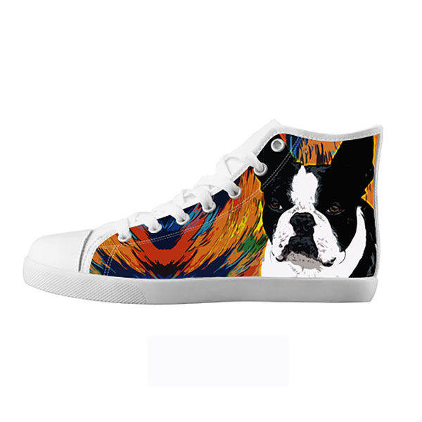 Boston Terrier Shoes & Sneakers - Custom Boston Terrier Canvas Shoes - TeeAmazing - 5
