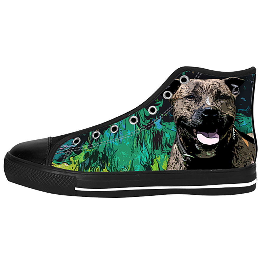 Staffordshire Bull Terrier Shoes & Sneakers - Custom Staffordshire Bull Terrier Canvas Shoes - TeeAmazing