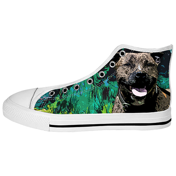 Staffordshire Bull Terrier Shoes & Sneakers - Custom Staffordshire Bull Terrier Canvas Shoes - TeeAmazing - 2
