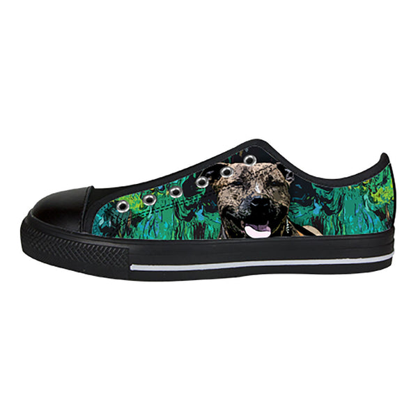 Staffordshire Bull Terrier Shoes & Sneakers - Custom Staffordshire Bull Terrier Canvas Shoes - TeeAmazing - 3