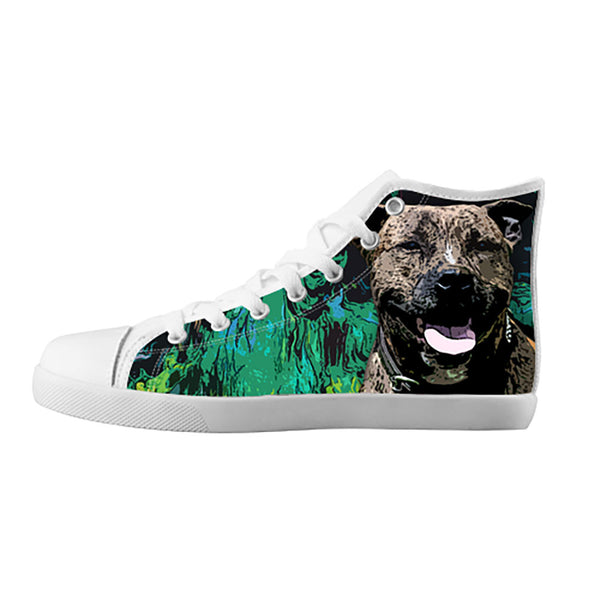 Staffordshire Bull Terrier Shoes & Sneakers - Custom Staffordshire Bull Terrier Canvas Shoes - TeeAmazing - 5