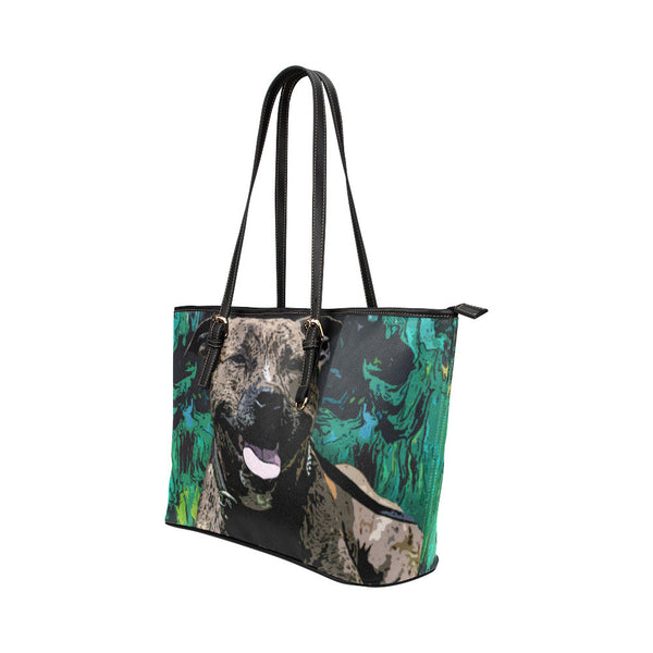Staffordshire Bull Terrier Leather Tote Bags - Staffordshire Bull Terrier Bags - TeeAmazing - 2