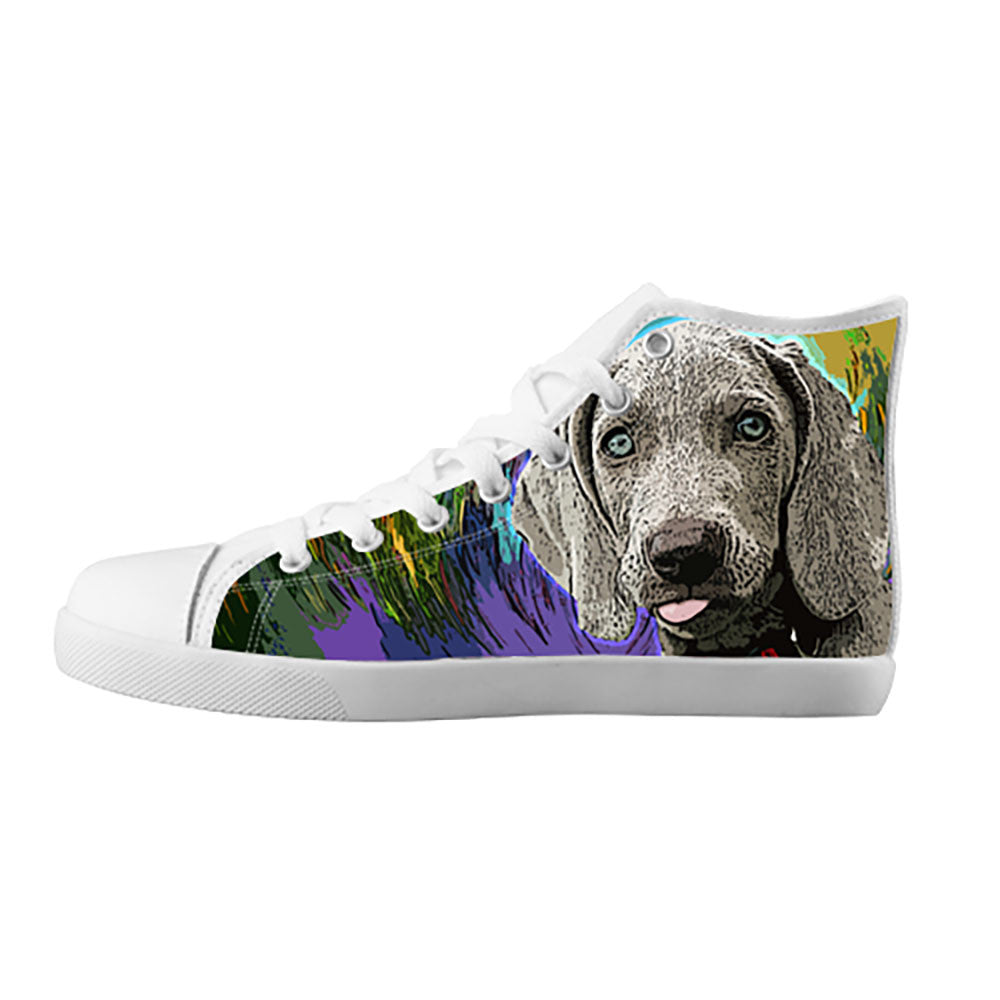 Weimaraner Shoes & Sneakers - Custom Weimaraner Canvas Shoes - TeeAmazing