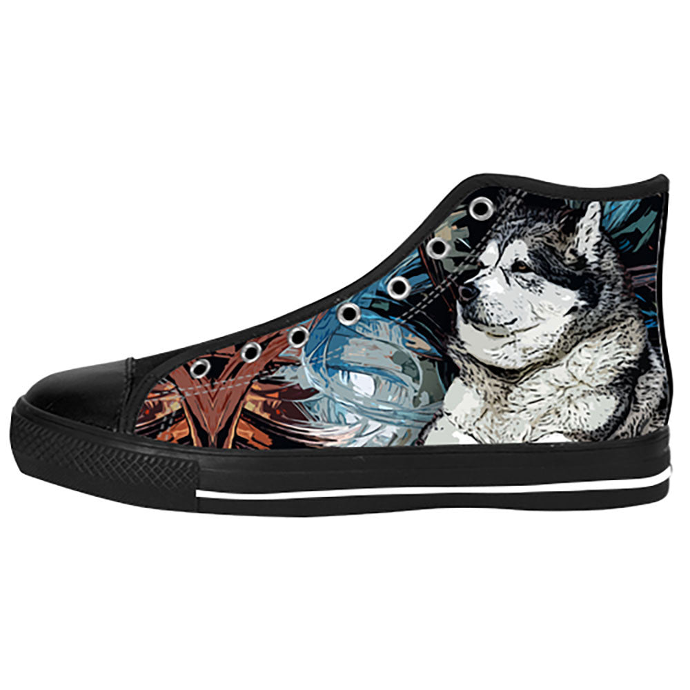 Alaskan Malamute Shoes & Sneakers - Custom Alaskan Malamute Canvas Shoes - TeeAmazing
