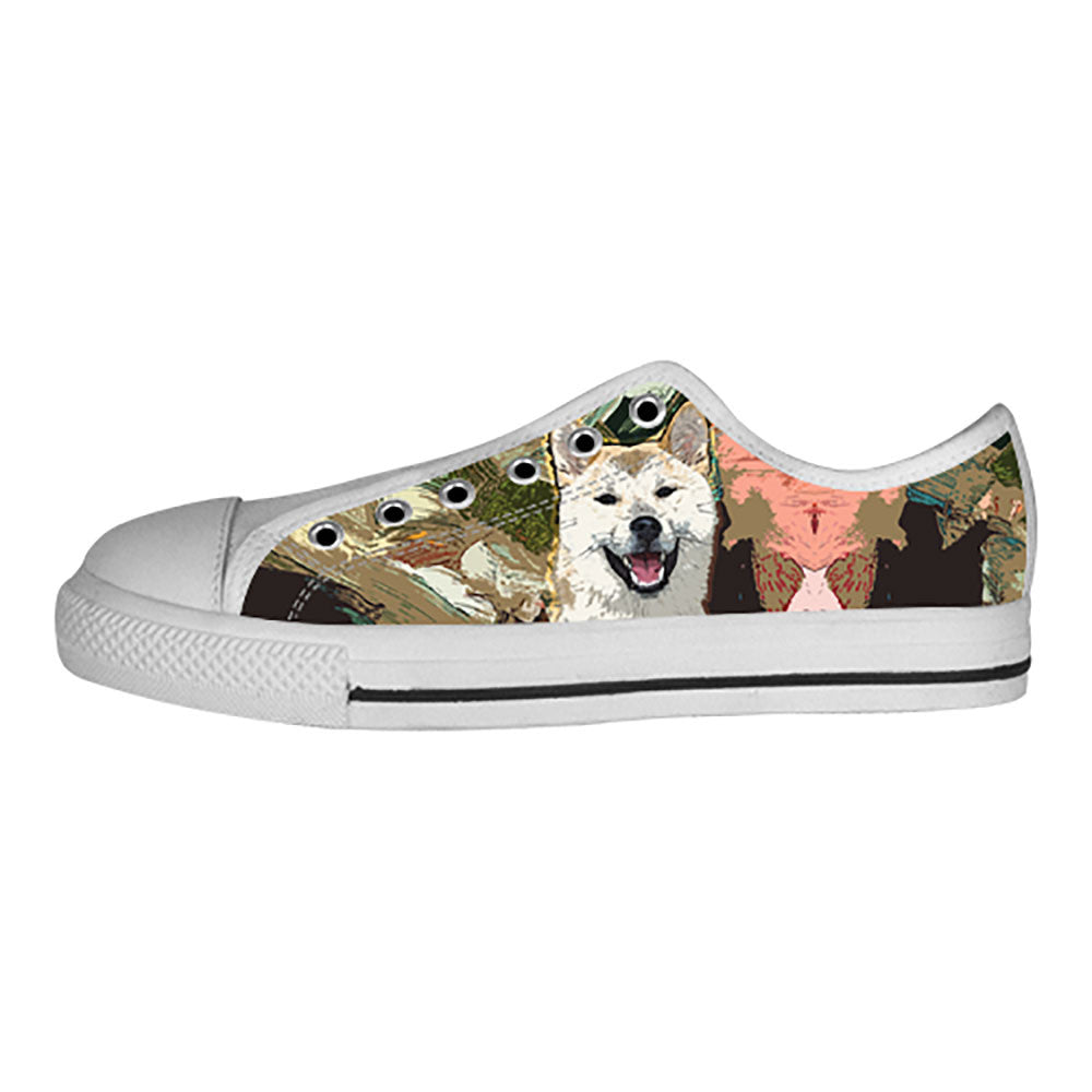 Akita Shoes & Sneakers - Custom Akita Canvas Shoes - TeeAmazing