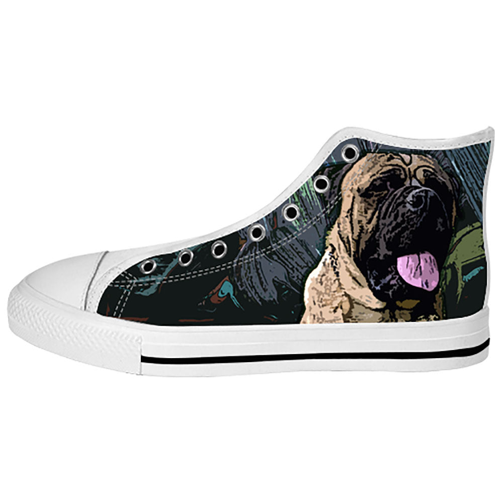 Bullmastiff Shoes & Sneakers - Custom Bullmastiff Canvas Shoes - TeeAmazing