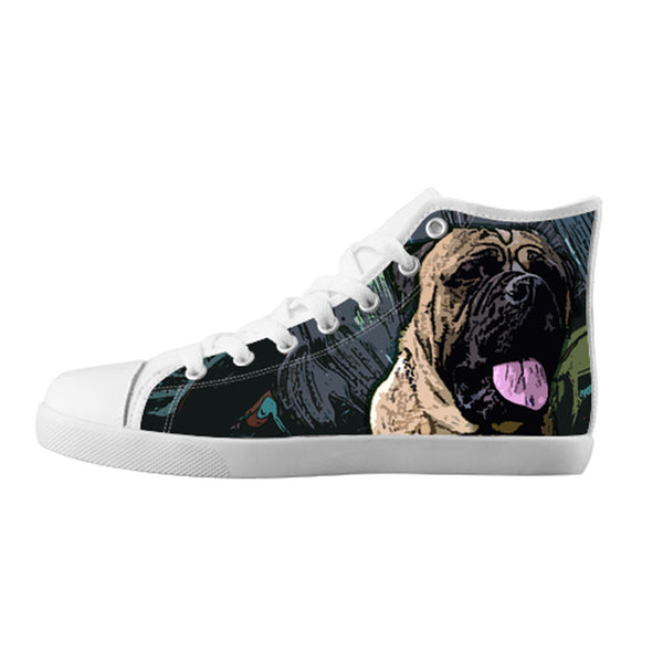Bullmastiff Shoes & Sneakers - Custom Bullmastiff Canvas Shoes - TeeAmazing - 5