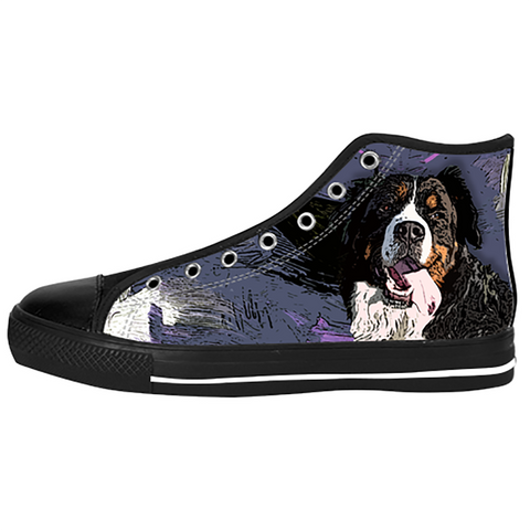 Bernese Mountain Shoes & Sneakers - Custom Bernese Mountain Canvas Shoes - TeeAmazing