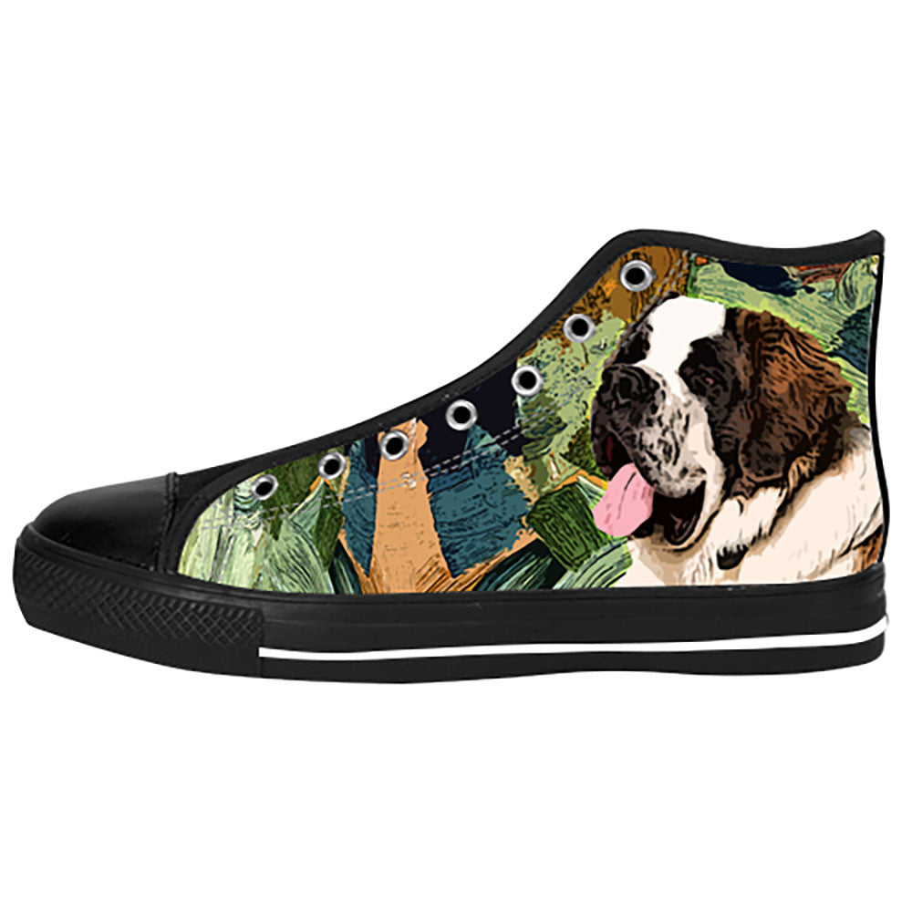 St. Bernard Shoes & Sneakers - Custom St. Bernard Canvas Shoes - TeeAmazing