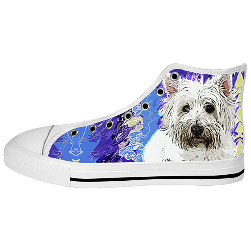 West Highland White Terrier Shoes & Sneakers - Custom West Highland White Terrier Canvas Shoes - TeeAmazing
