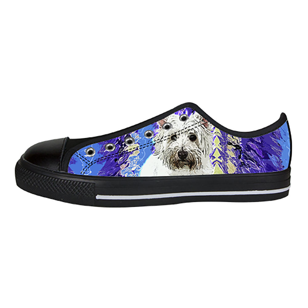 West Highland White Terrier Shoes & Sneakers - Custom West Highland White Terrier Canvas Shoes - TeeAmazing - 3