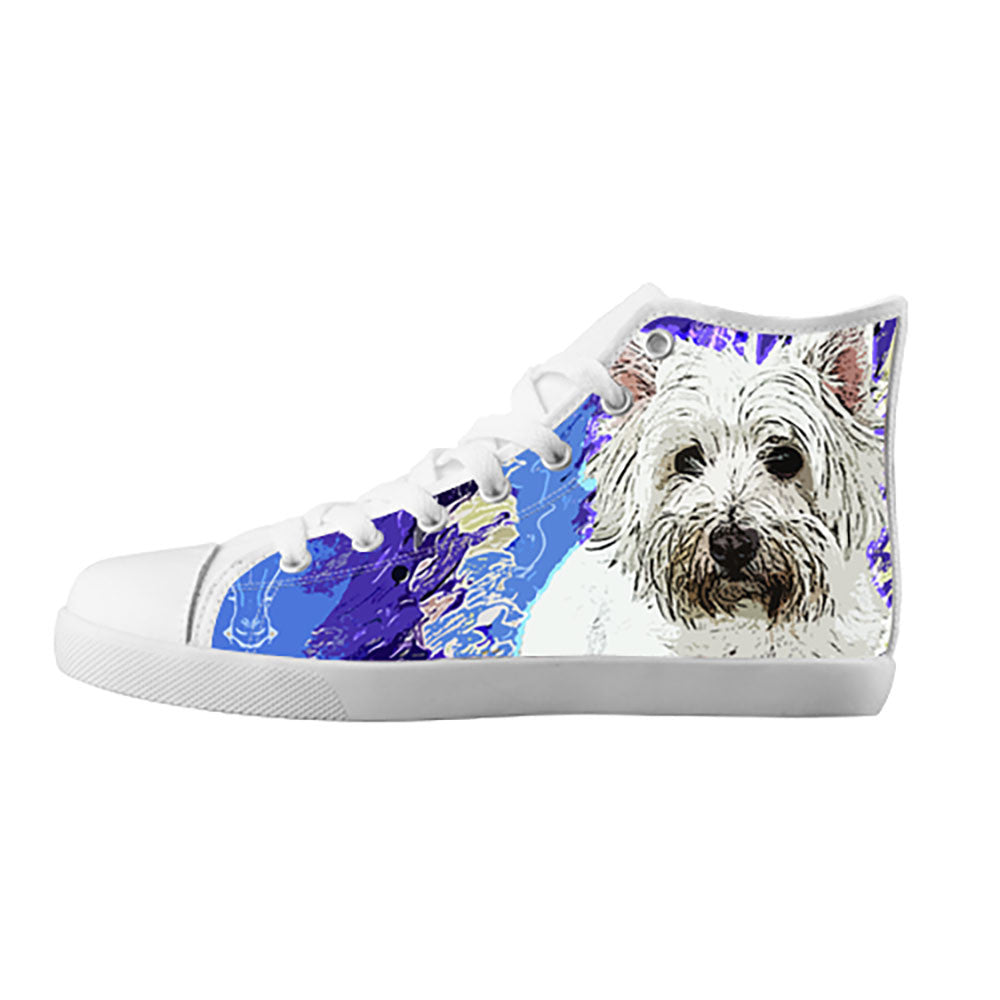 West Highland White Terrier Shoes & Sneakers - Custom West Highland White Terrier Canvas Shoes - TeeAmazing - 5