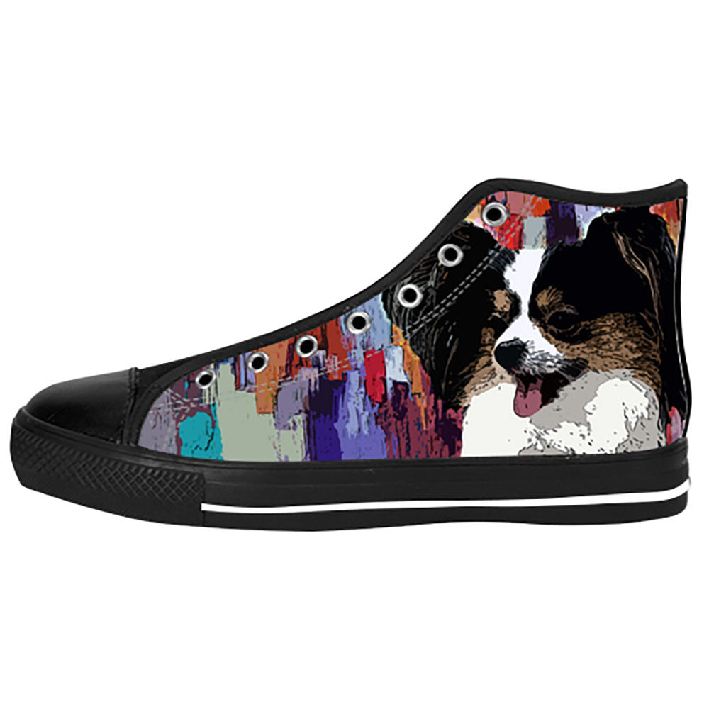 Papillon Shoes & Sneakers - Custom Papillon Canvas Shoes - TeeAmazing