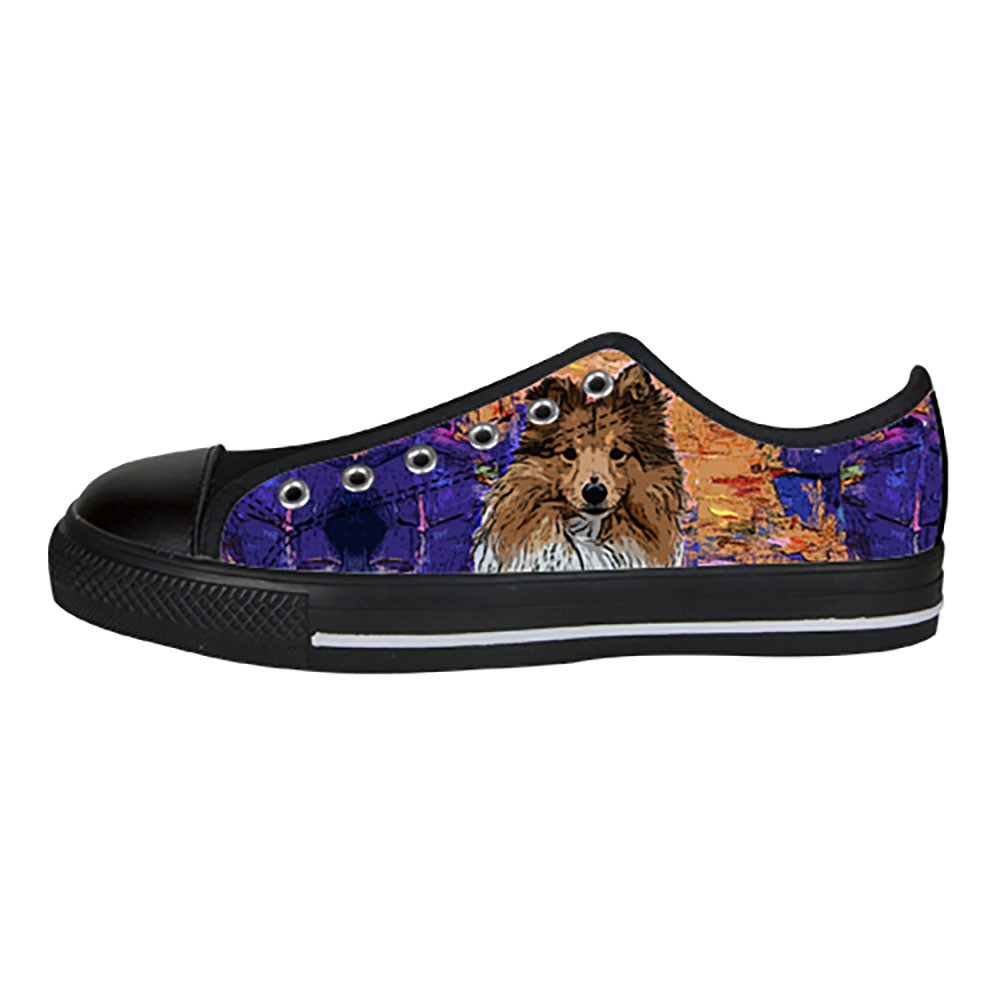 Shetland Sheepdog Shoes & Sneakers - Custom Shetland Sheepdog Canvas Shoes - TeeAmazing