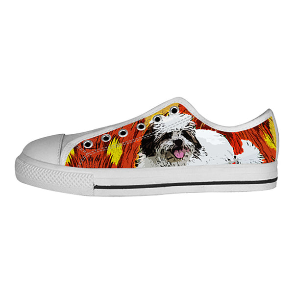 Lhasa Apso Shoes & Sneakers - Custom Lhasa Apso Canvas Shoes - TeeAmazing