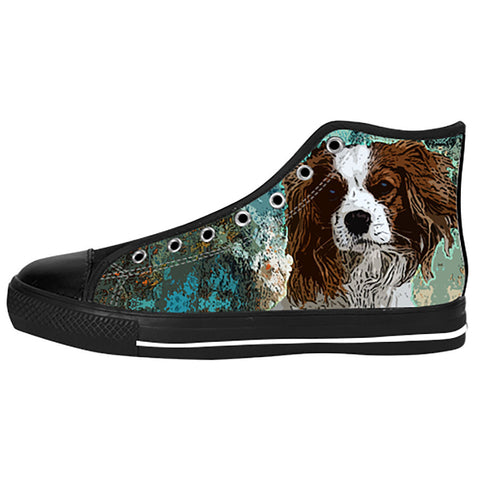 Cavalier King Charles Spaniel Shoes & Sneakers - Custom Cavalier King Charles Spaniel Canvas Shoes - TeeAmazing