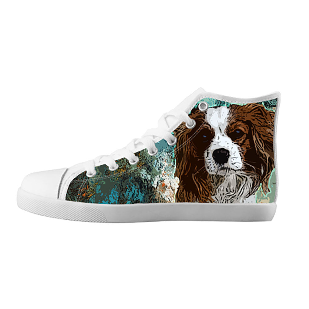 Cavalier King Charles Spaniel Shoes & Sneakers - Custom Cavalier King Charles Spaniel Canvas Shoes[teeamazing]