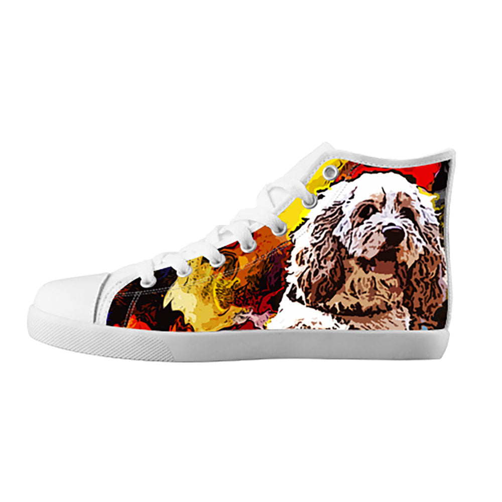 American Cocker Spaniel Shoes & Sneakers - Custom American Cocker Spaniel Canvas Shoes - TeeAmazing
