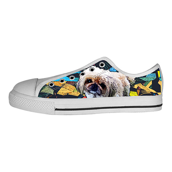 Pekingese Shoes & Sneakers - Custom Pekingese Canvas Shoes - TeeAmazing - 4