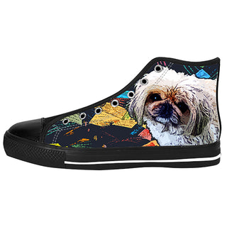 Pekingese Shoes & Sneakers - Custom Pekingese Canvas Shoes - TeeAmazing