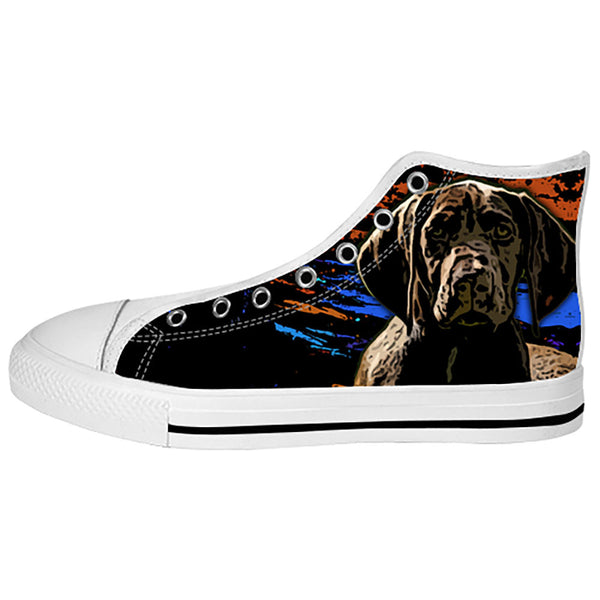 German Shorthaired Pointer Shoes & Sneakers - Custom German Shorthaired Pointer Canvas Shoes - TeeAmazing - 2