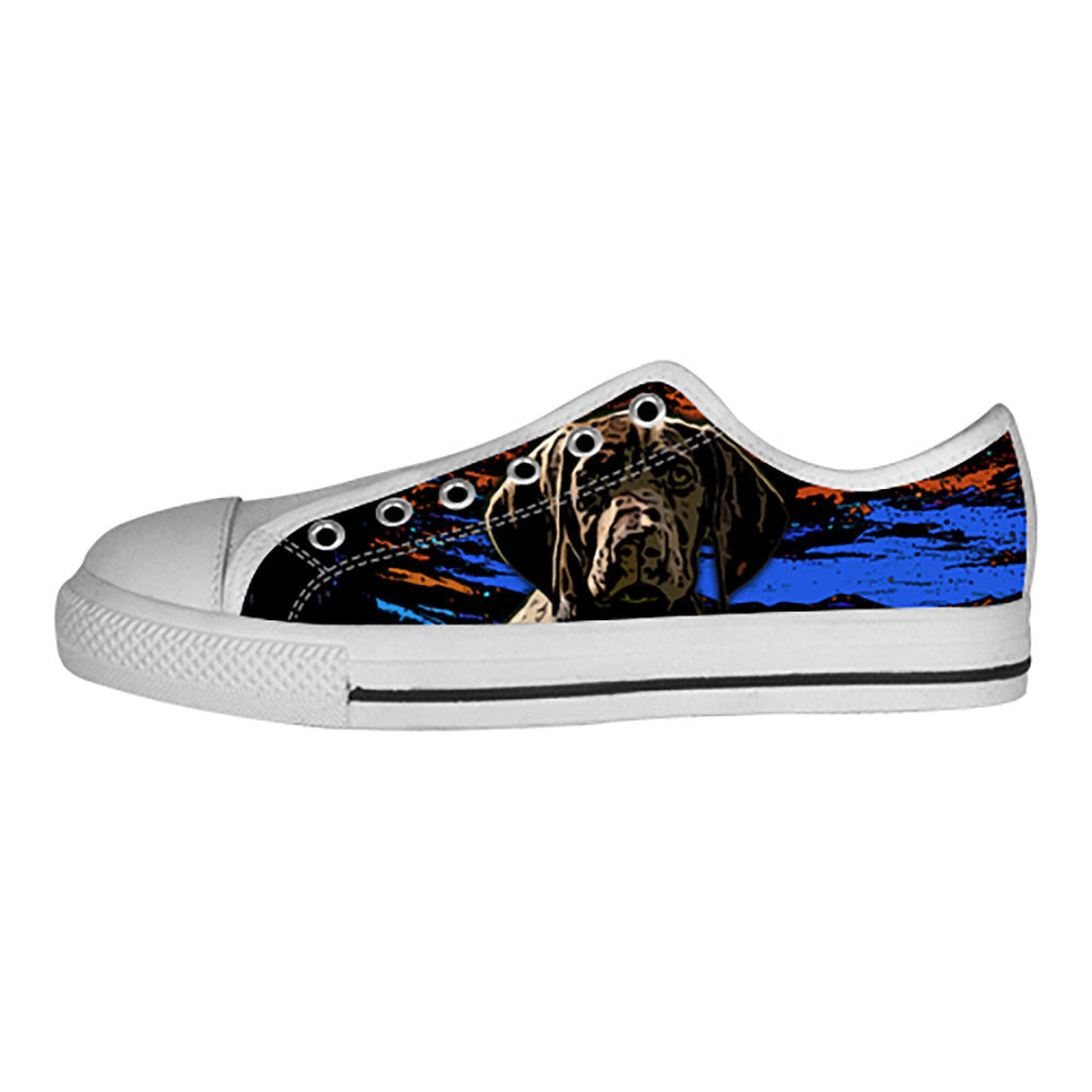 German Shorthaired Pointer Shoes & Sneakers - Custom German Shorthaired Pointer Canvas Shoes - TeeAmazing